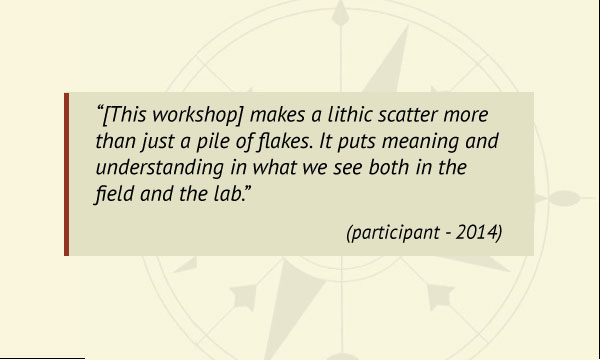 Lithic workshop testimonial 3
