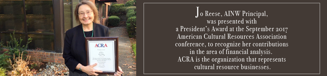 Jo Reese - ACRA President's Award