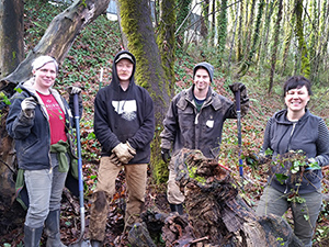 AINW volunteers at the Indian Creek Natural Area